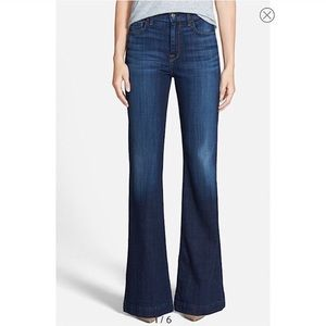7 For All Mankind Ginger Flare Jeans Dark Wash